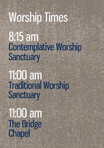 worship times section sidebar